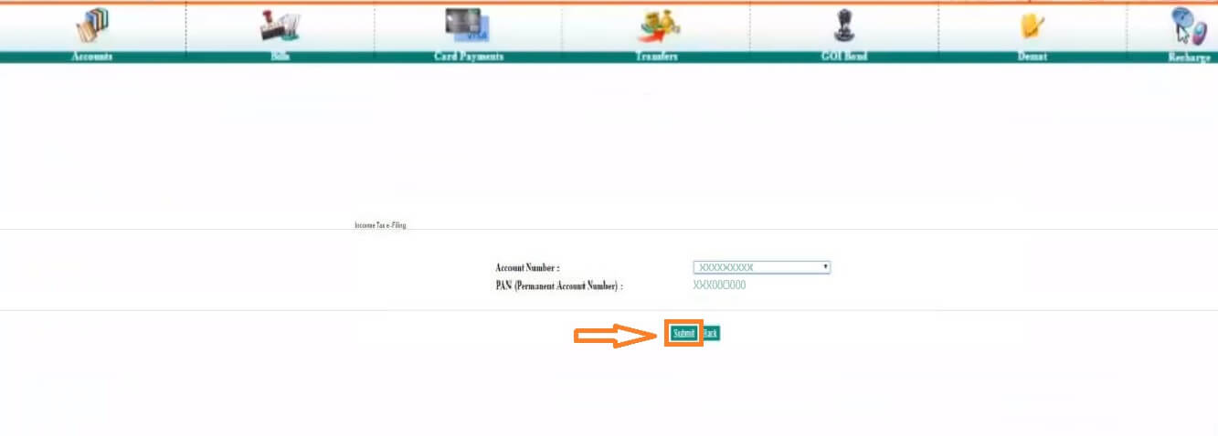 E-Verify ITR Through IDBI Bank Net Banking Portal Service - 3rd Step