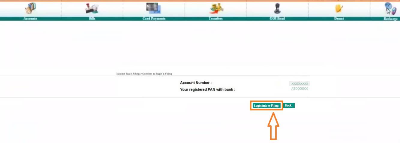 E-Verify ITR Through IDBI Bank Net Banking Portal Service - 4th Step