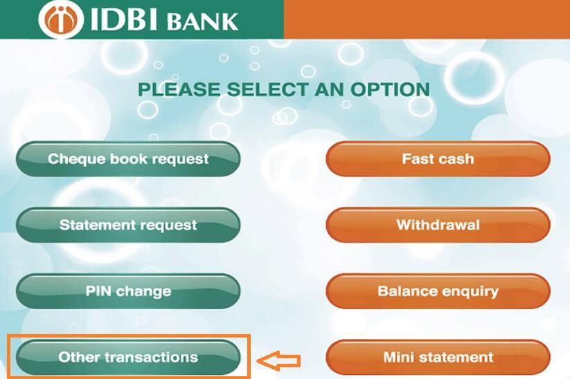 idbi bank atm service - 1 step