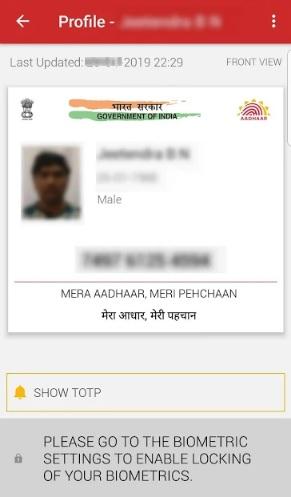Complete view of your aadhaar card download on maadhaar app
