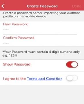 Create m-Aadhaar Profile Password