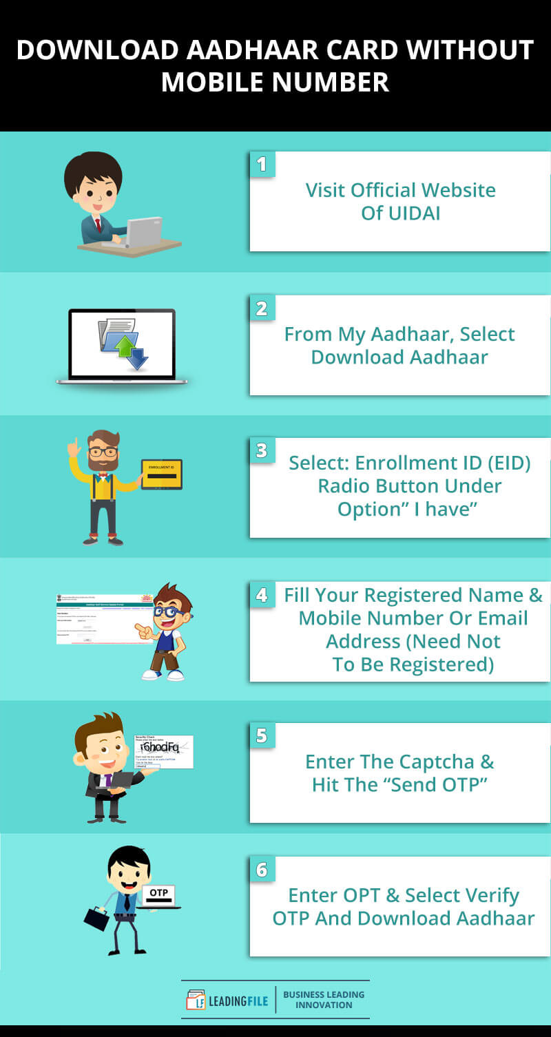 How To Download Aadhaar Card Without Mobile Number